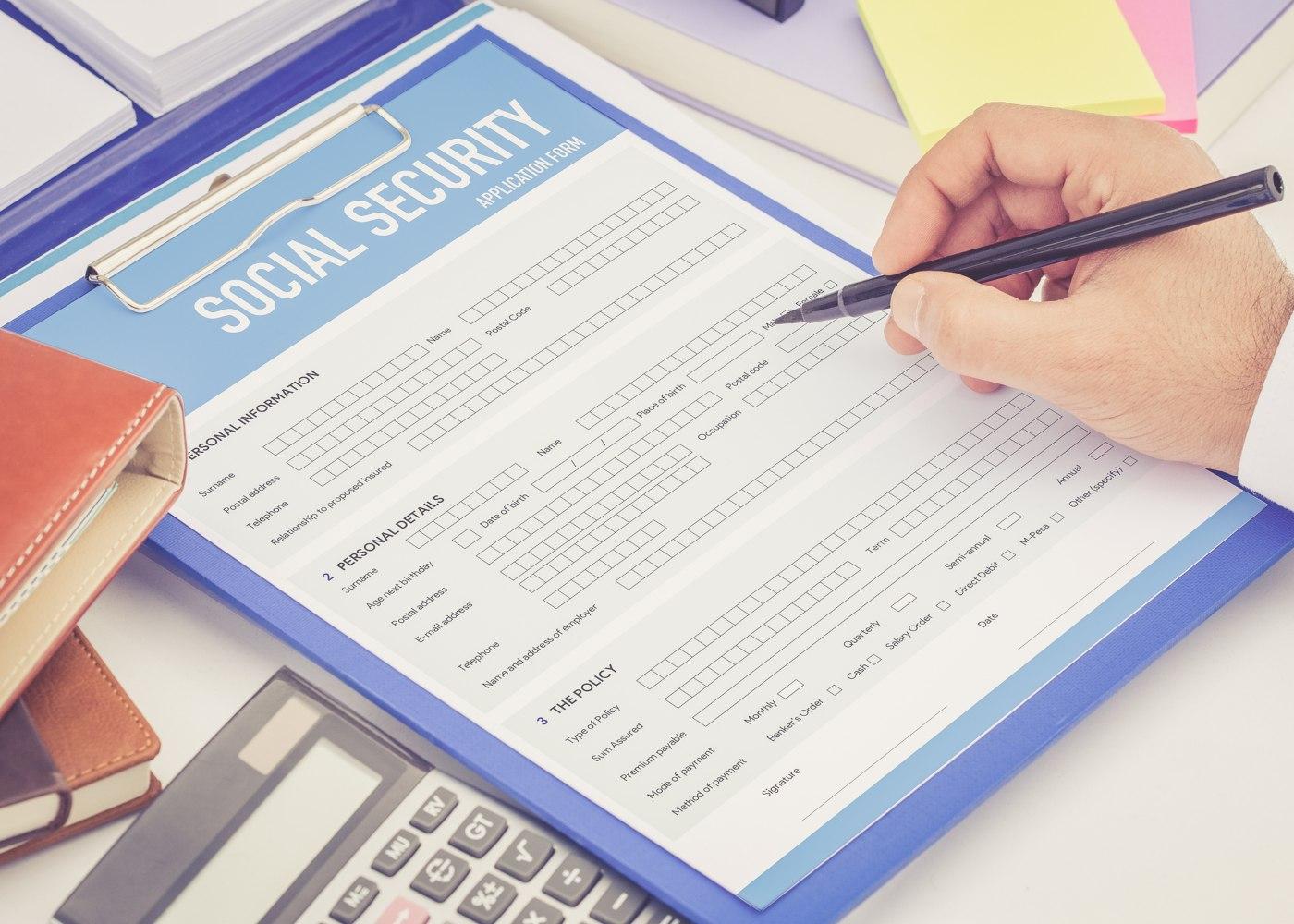 formulário da segurança social
