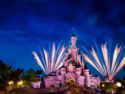 Disneyland de Paris co fogo de artifício