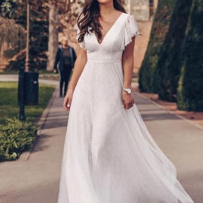 vestido de noiva simples shein