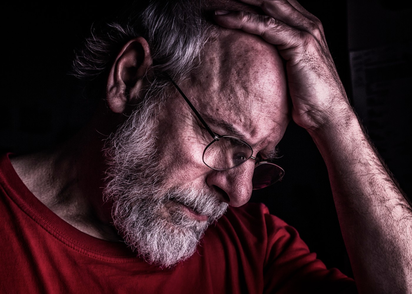 homem com demencia