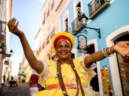 Baiana em Salvador da Bahia