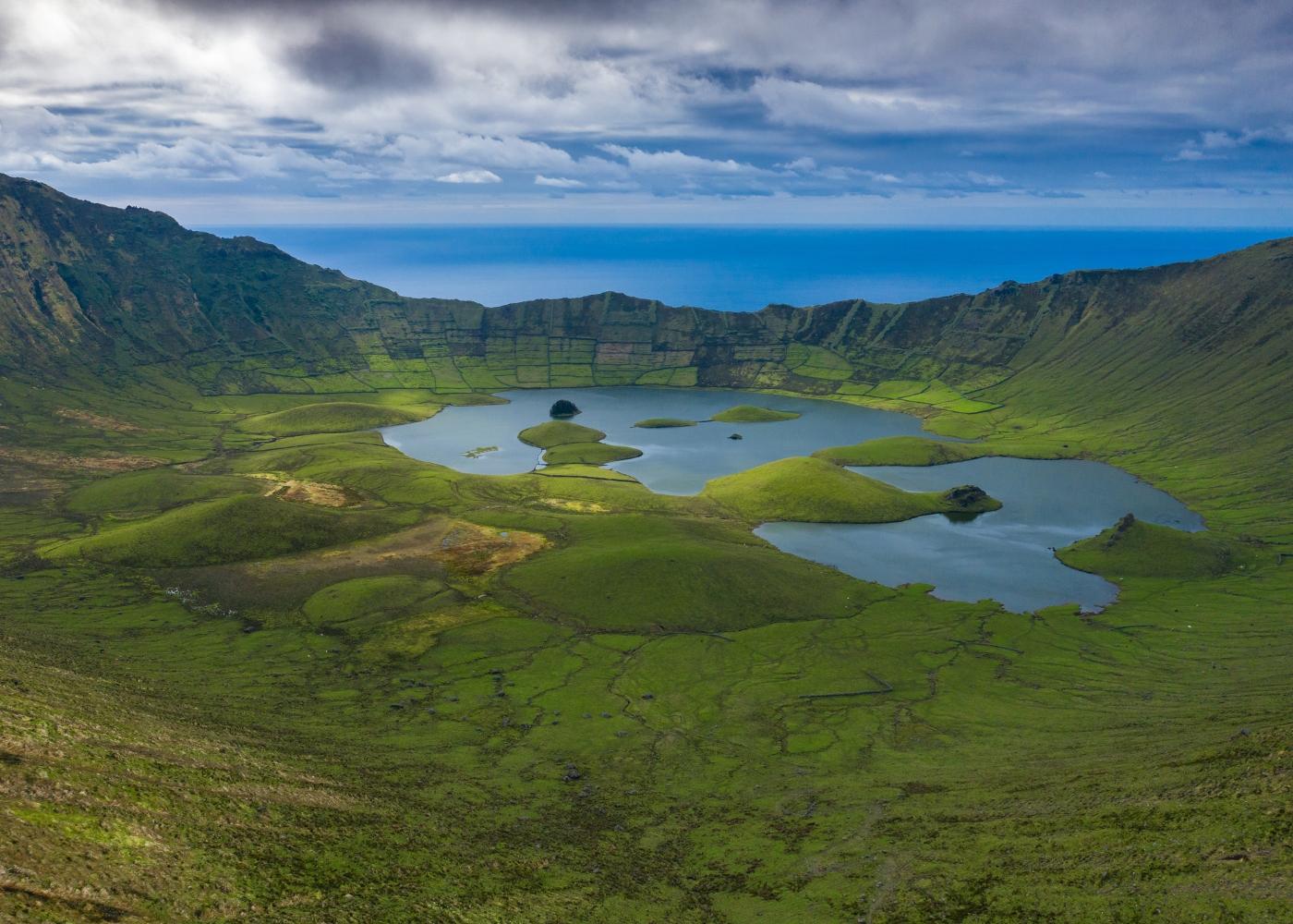 ilha do corvo nos Açores