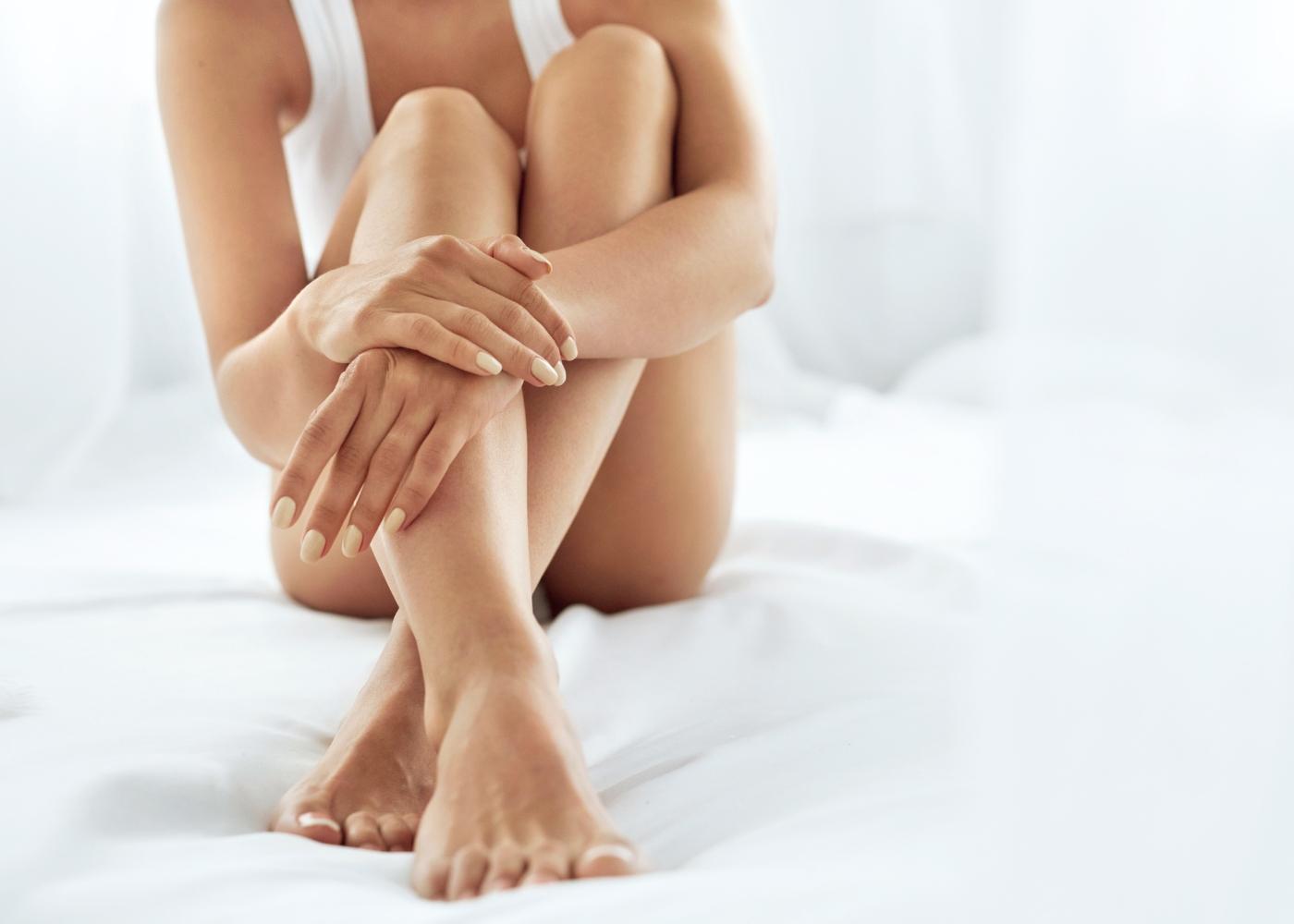 pele das pernas macia