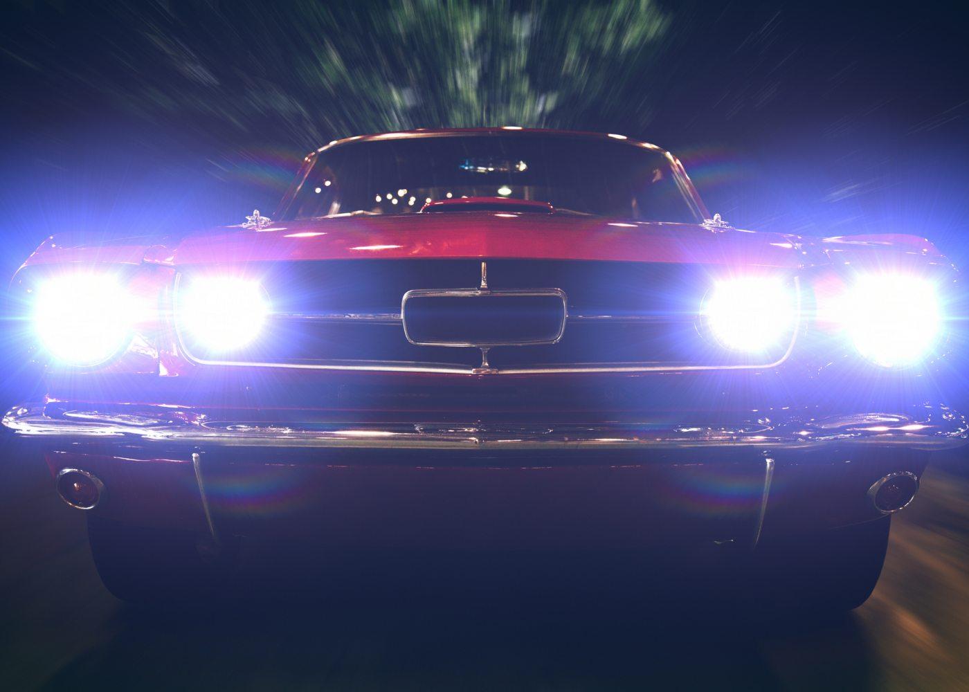 luzes de carro
