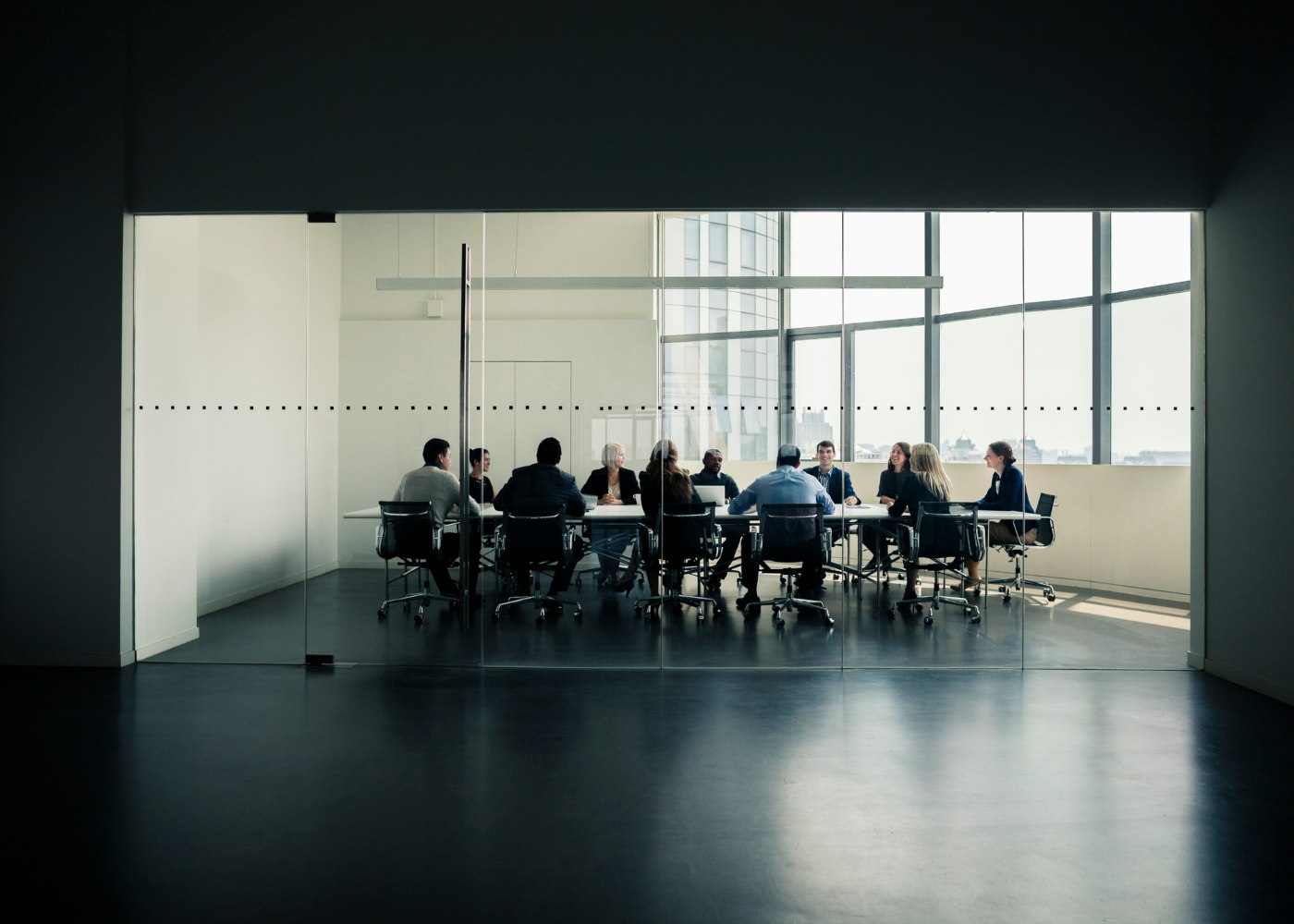 reunião numa sala de escritório