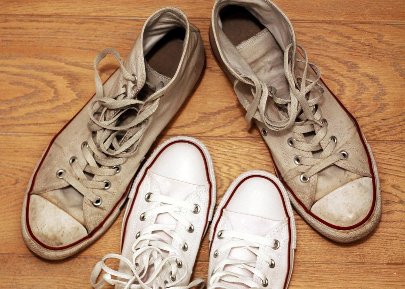 sapatilhas velhas que não deve ter em casa