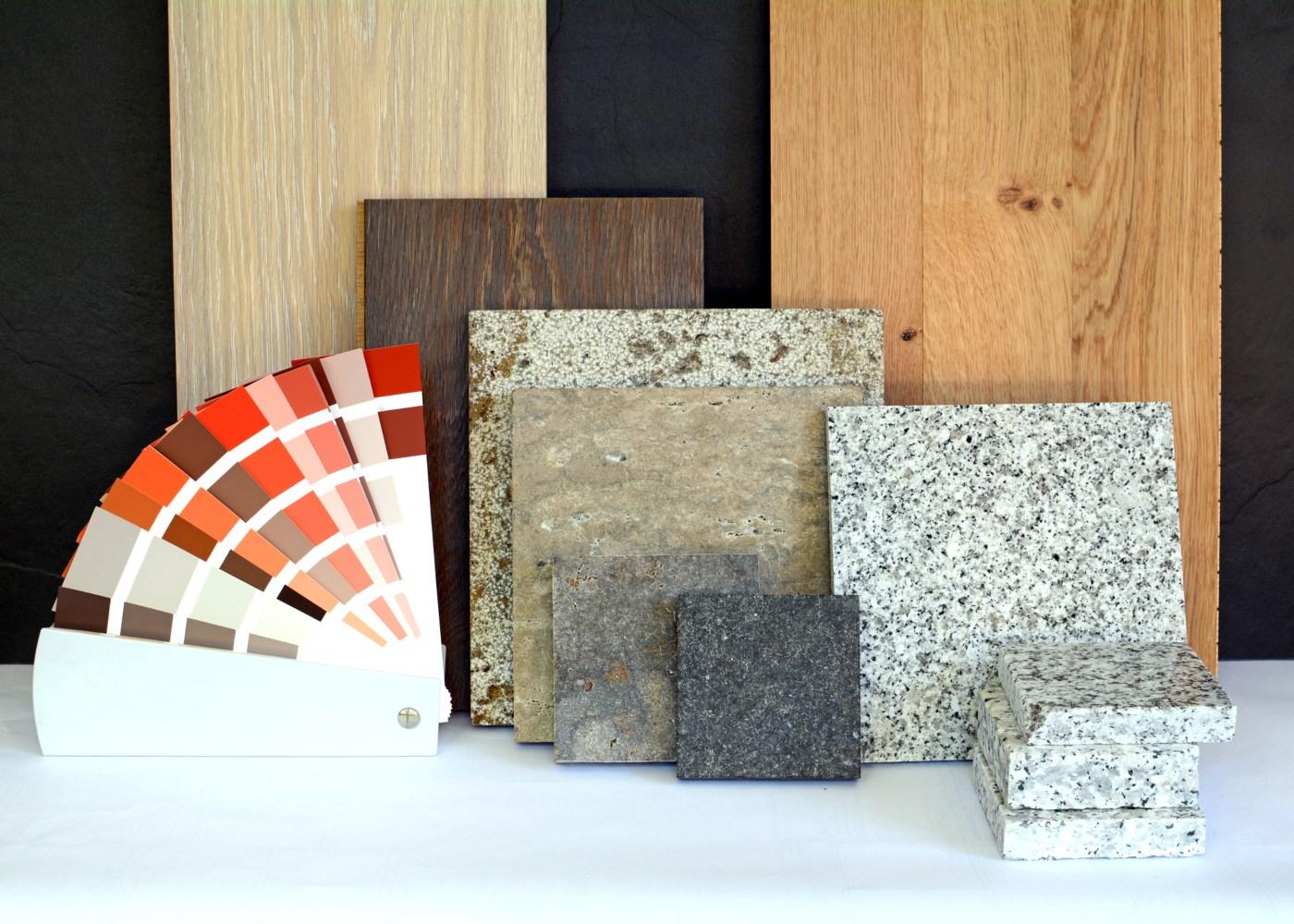 diferentes materiais de renovação