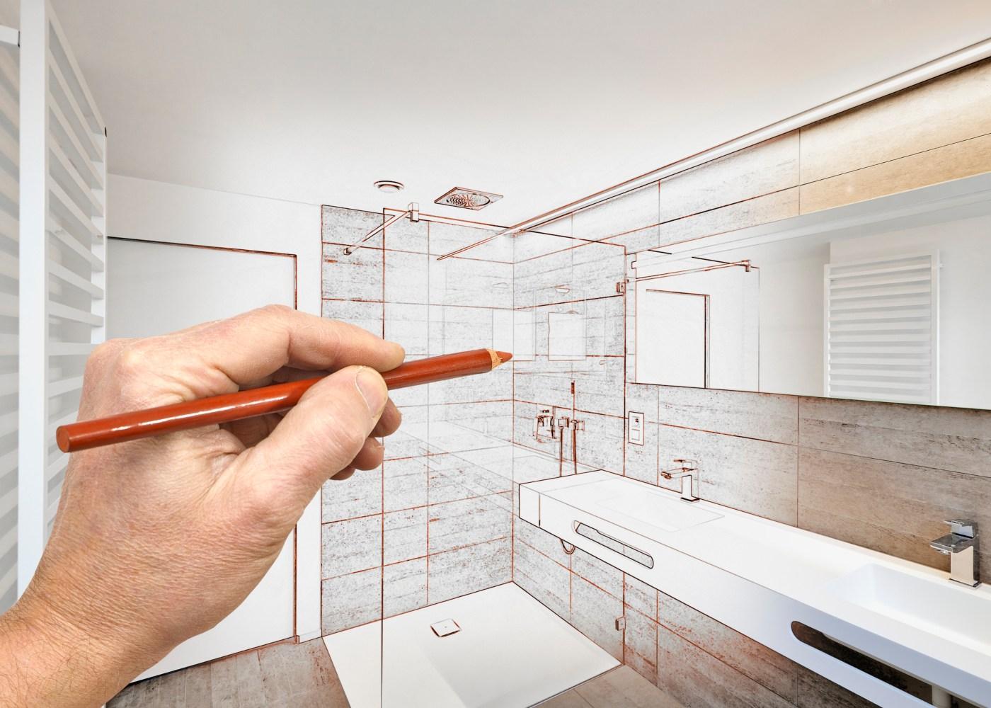 desenho de uma nova casa de banho