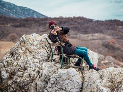 Mulher a tirar fotos impressionantes