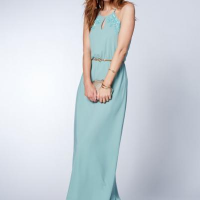 vestido azul água Venca