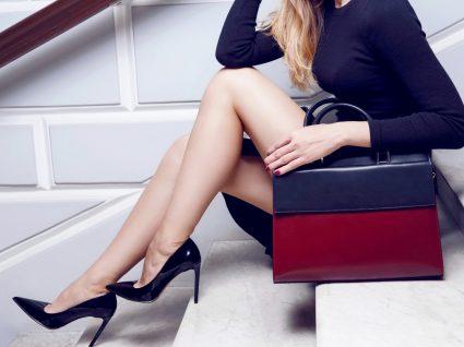 pernas elegantes de mulher