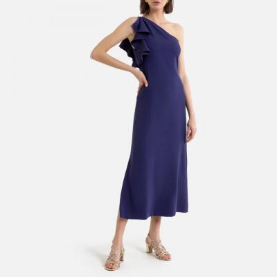 vestido violeta la redoute azul
