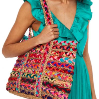bolsa colorida antik batik