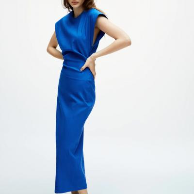 vestido da zara azulão