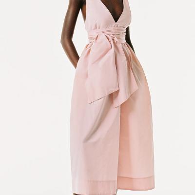 Vestido rosa midi zara