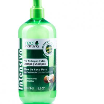 champô real natura embalagem verde