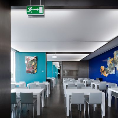 restaurante blue green interior