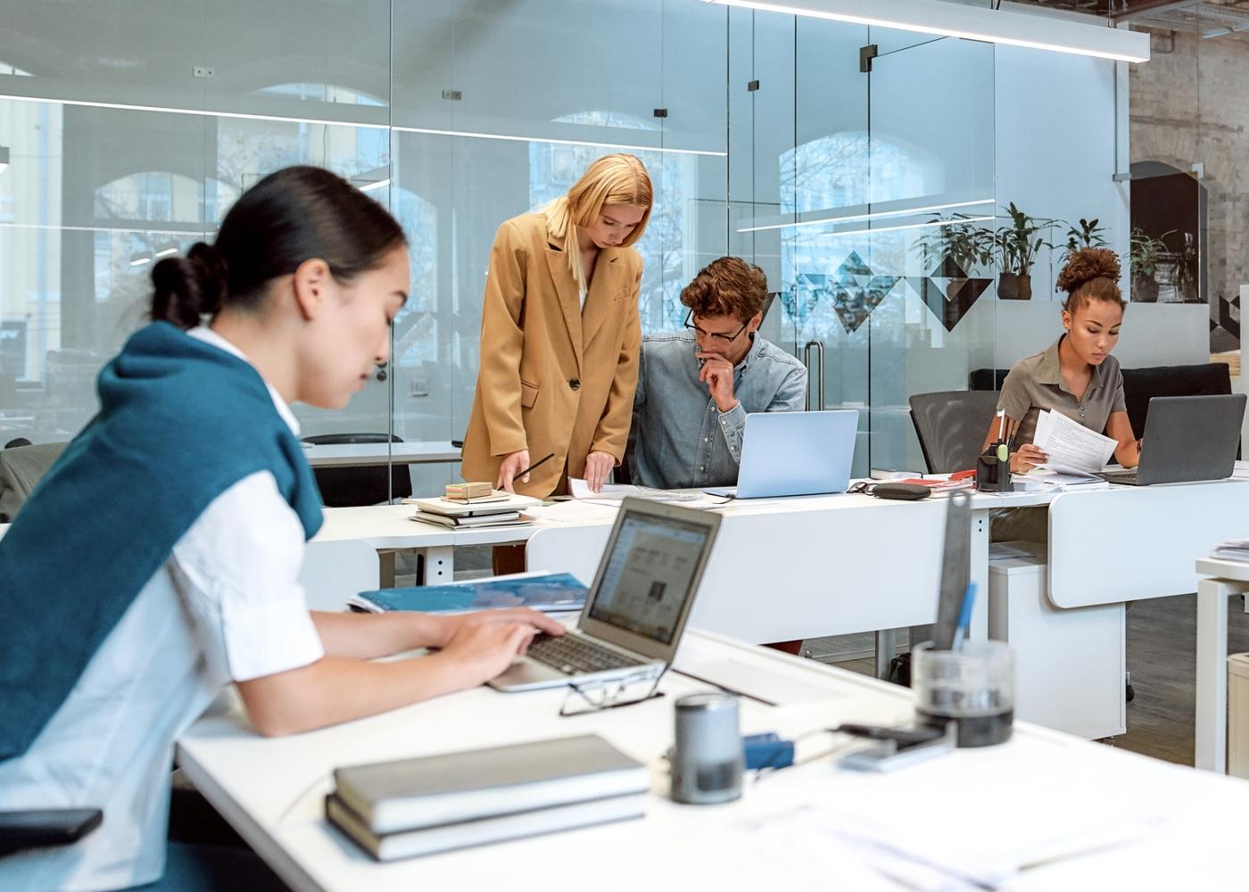 equipa a trabalhar no escritório