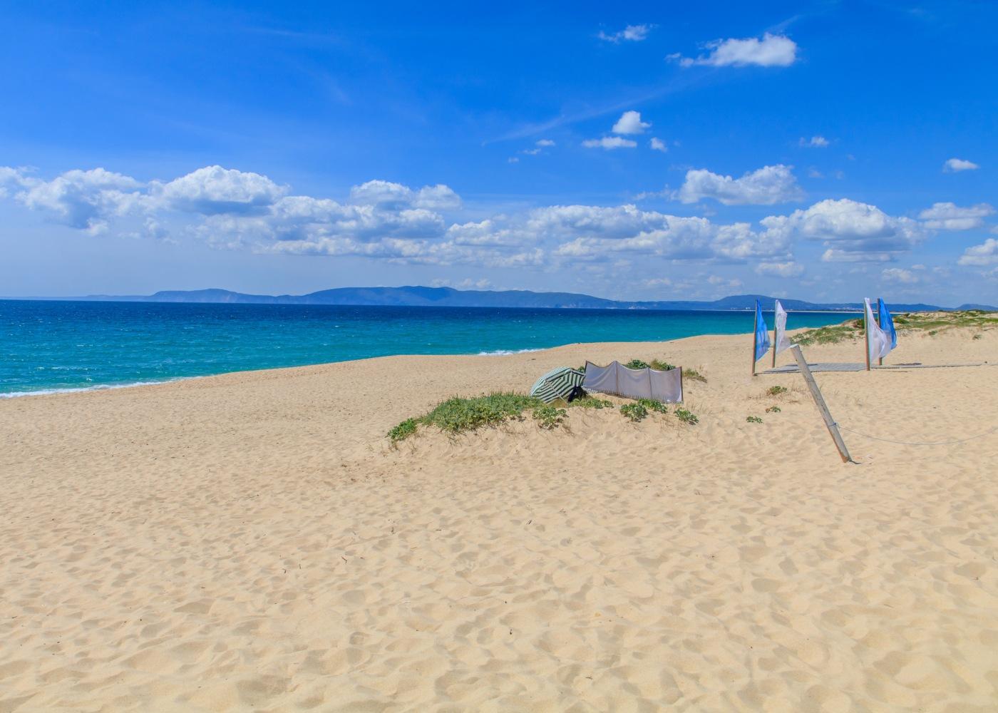 vista sobre a praia da comporta