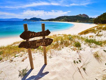 Ciés, uma das melhores praias do norte de espanha