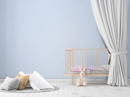 quarto de bebé minimalista