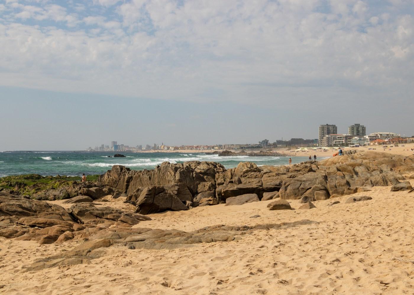 vista sobre praia