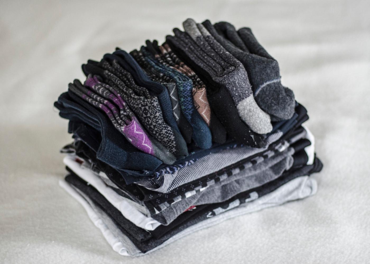 roupa lavada e dobrada