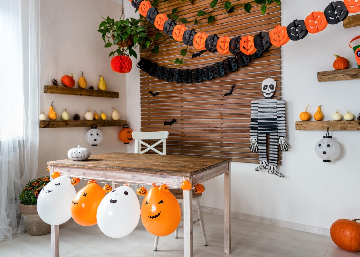 decoração de halloween de sala