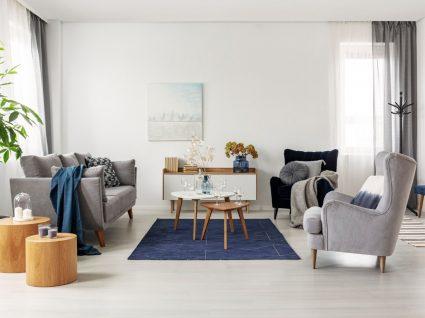 sala de estar moderna e organizada