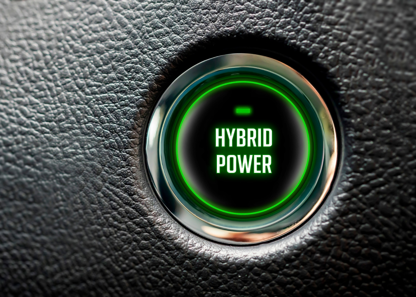 botão de ligar o carro com designação Hybrid power