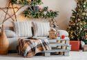decoração de natal em sala de estar