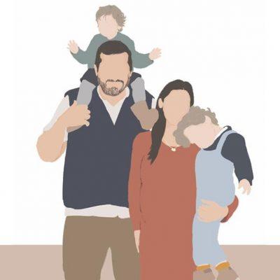 ilustração família