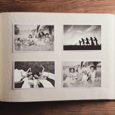 álbum de memórias e recordações