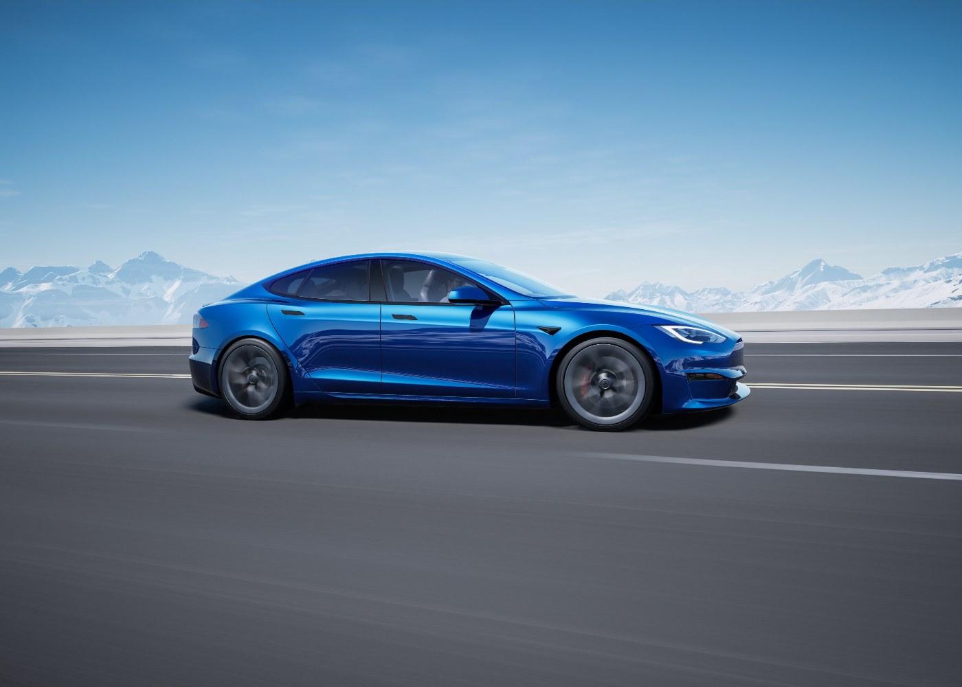 Tesla Model S Plaid+, um dos carros elétricos com maior autonomia