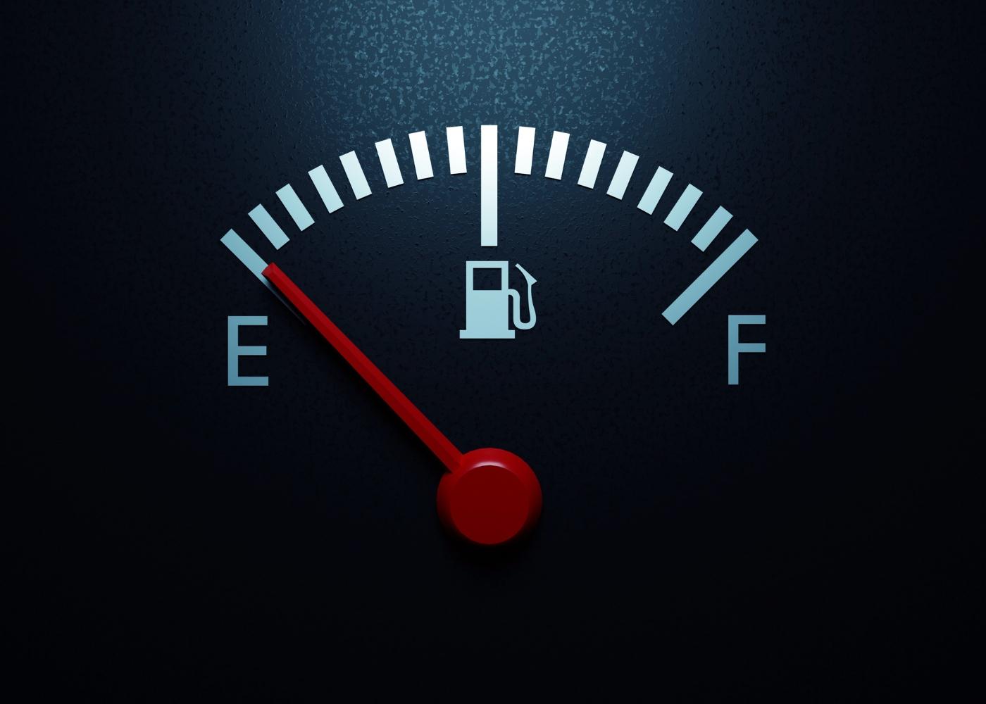 imagem de mostrador do nível de combustível