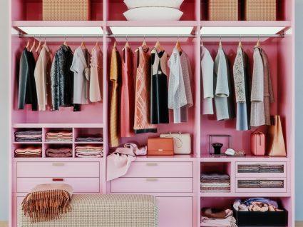 closet cor de rosa