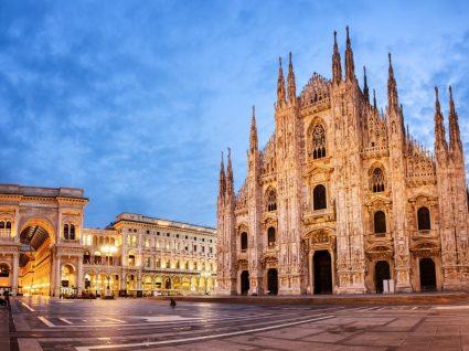 Catedral e galerias em Milão