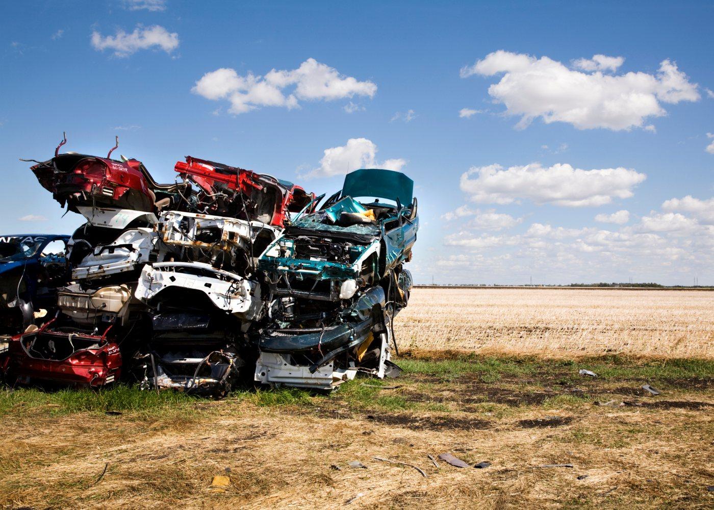 carros na sucata
