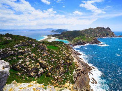 Vista geral das ilhas cíes