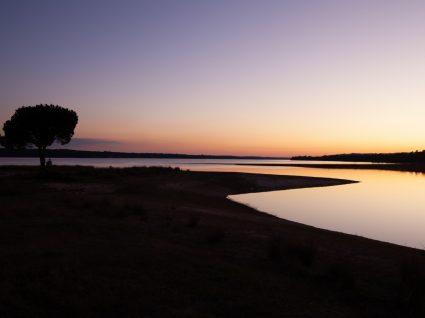 Panorâmica de Montargil ao pôr do sol
