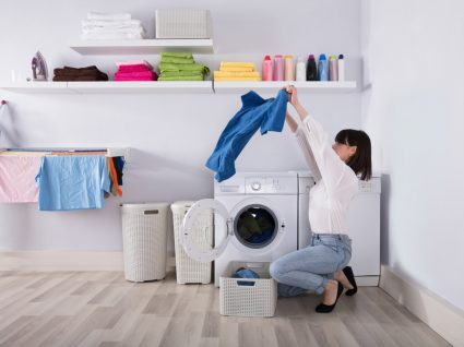 usar máquina de secar