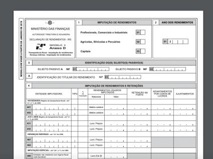 Anexo D do IRS: para quem e como preencher
