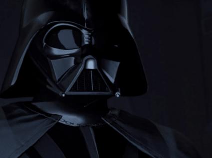 Defronte Darth Vader. E que a força esteja consigo