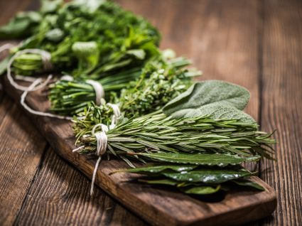 8 ervas aromáticas para cultivar apenas num frasco com água