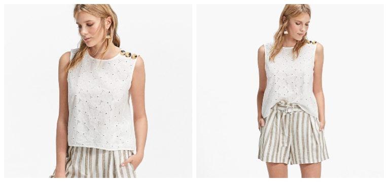blusas de primavera-verão renda branca