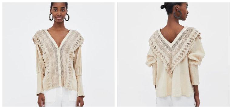 blusas de primavera-verão boho zara