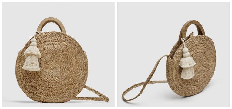 peças da Zara de primavera-verão cesta rafia