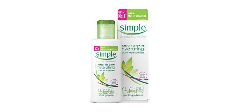 peles sensíveis creme hidratante simple