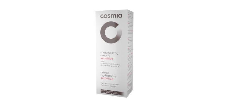creme hidratante peles sensíveis cosmia