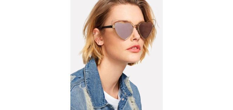 óculos de sol à Lolita espelhados